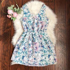 Lovers+Friends Printed Twist Back Sleeveless Dress